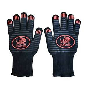 Ironstone  500°C  Heat Resistant Silicone Gloves Kitchen BBQ Oven Cooking Mitts
