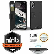 UAG iPhone X Folio Case Rugged FeatherLight Wireless Charging Compatible MIL STD