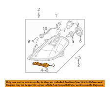 NISSAN OEM 07-12 Versa Headlight Head Light Lamp-Lower Retainer Left 62245EM30A
