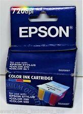Genuine EPSON SO20097 Cartucho de Impresora de tinta de color STYLUS 200 500 720 DPI en Caja
