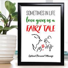 Aniversario Disney Regalos Personalizado para Esposa Marido Novia Novio Ella