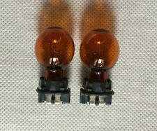 2 x GENUINE PHILIPS PWY24W Halogen turn signal bulb amber yellow  12V 24W bulbs