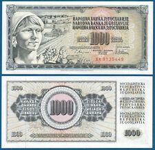 JUGOSLAWIEN / YUGOSLAVIA 1000 Dinara 1978 UNC  P.92 c