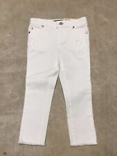 girls youth tommy hilfiger 3t 4t skinny fit jean slim fit white pants 10-19
