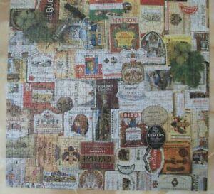 FX Schmid Jigsaw Puzzle Wine Labels 600 Pieces Complete No. 97808