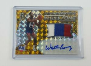 Walter Berry 2016-17 Panini NBA Spectra In The Zone Gold Auto #08/10