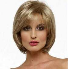 FIXSF438 new fashion short dark blonde mixed health Hair Wigs for women wig