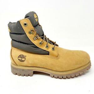 Timberland Mens 6 Inch Premium Waterproof Panel Boots Wheat Nubuck 34091