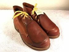 Vintage IRON AGE Met Gaurd BOOTS SZ 6.5 E men's LEATHER STEEL BROWN USA