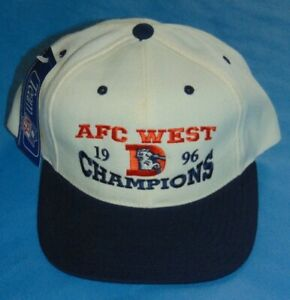 Denver Broncos 1996 AFC West Champions Cap New with Tags