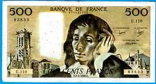 FRANCE 500 FRANCS PASCAL  3.4.1980 U.110 TB