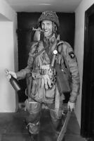 WW2 American paratrooper in Normandy with a bottle of champagne War 4x6 inch D