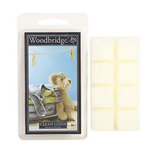 Woodbridge Candle Clean Linen 68g Duftwachs Wax Melts 8er Pack WWM001
