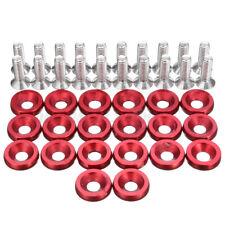 20Pcs Red JDM Car Fender Washer Bolt Engine Bay Screw Dress Up Kit Aluminum