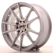 Japan Racing JR21 Alloy Wheel 17x7 - 4x114.3 / 4x100 - ET40 - Silver Machined