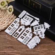 Christmas House Cutting Dies Stencil DIY Scrapbooking Embossing Paper Card Decor