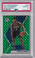 2019 Panini Mosaic Green Prizms Zion Williamson ROOKIE RC #209 PSA 10 GEM MINT