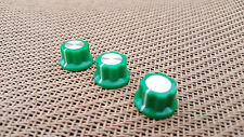 Set of 3 Green Boss Style Guitar Effects Pedal Stompbox Control Rotary Knobs