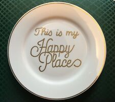 This Is My Happy Place Plate - Decorative Plate - Hand Painted - Wall Decor -