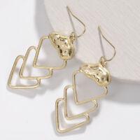 2019 Fashion Gold Silver Alloy Cutout Chevron Arrow Dangle Earrings For Women