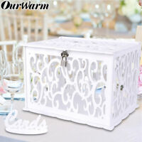 DIY Wedding Card Box Rustic Wooden Card Post Gift Box for Wedding Baby Shower