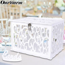 DIY Wooden Wedding Card Box Money Box Gift Wishes Card Holder Wedding Supply