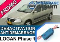 Clé de désactivation d'anti démarrage Dacia LOGAN PHASE 1