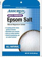 ASSURED all natural multi-purpose Epsom Salt natural magnesium sulfate 16 oz