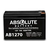 NEW AB1270 12V 7AH SLA Battery Replacement for CyberPower CPS 825 AVR