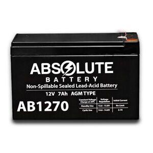 NEW AB1270 12V 7AH Sealed BATTERY Fits Aqua Vu Marcum Vexilar