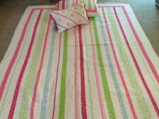 Twin Quilt Pillow Sham & Accent Pillow (Pocket Full Of Posies) 100% Cotton Rever