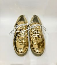 d0137049da800 Vegas Giuseppe Zanotti Mens Low Top Sneakers Mirrored Gold Patent 11 US size