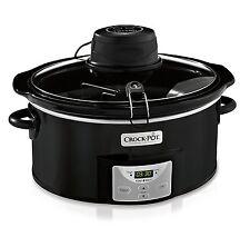 CrockPot 6Qt Black Oval Programmable Digital Slow Cooker w/Auto Stir System