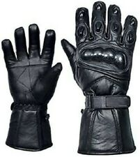 Waterproof Motorbike Motorcycle Gloves Real Leather Winter Warm Thermal Armored