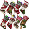Cute Mini Santa Big Socks Gift Bag Stocking For Christmas Tree Door Window Decor