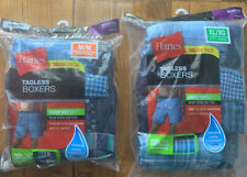 Hanes Men's (4-Pack) TAGLESS BOXERS Style #841BX5 Size M/M, XL/XG Opened package