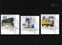 Berlin (West) 876-878 (kompl.Ausgabe) gestempelt Eckrandstücke mit Formnummern