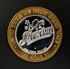 Silverton Hotel and Casino Ltd Ed. $10 Gaming Token, .999 Fine Silver!