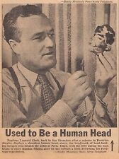 FEB 24, 1947 NEWSPAPER COPY- SHRUNKEN HEAD HANDIWORK OF PERUVIAN HEAD-HUNTERS