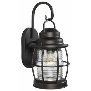 Kenroy Home Beacon 1-Light Gilded Copper Wall Lantern Sconce