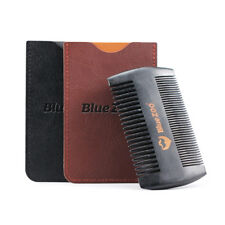 1pc Natural Sandalwood Double Sided Beard Styling Shaping Comb Tool With PU Bag