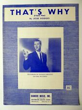 That´S Why (I Love You) Sheet Music 1961 by Jesse Hodges #501