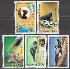 KOREA Pn. 1978 USED SC#1751/55 set, Woodpecker.