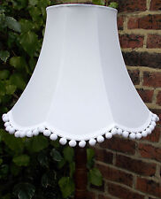 Vintage lampshade in pure white fabric for a standard lamp or ceiling lamp