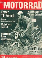 6447MO Motorrad 1969 13/69 Tomos Kawasaki 650 Montesa Bultaco KTM magazine