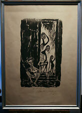 Very Unique Artist's Proof Woodcut by Listed Artist Karl Hansen Bahia