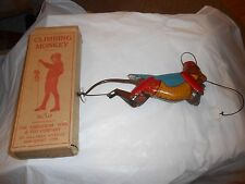 Vintage TIN LITHO CLIMBING MONKEY LINDSTROM No. 114 in ORIGINAL BOX - WORKS !!!!