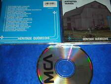 ULTRA RARE CD album Héritage québécois au QUEBEC Artistes variés MCAMD-10159 mca