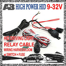 New Relay Cable Switch for HID Driving Light Spotlight Harness Loom Wiring