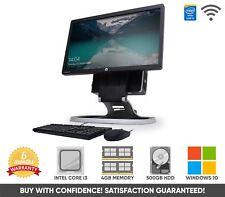 "HP Compaq 8200 20"" Ultra Slim All in One PC Intel Core i3 4GB 500GB Win 10"